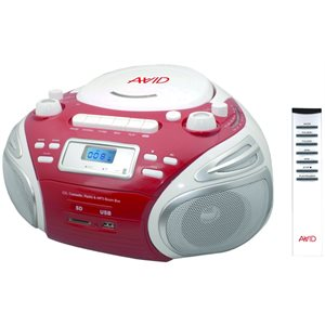 Avid Products BB-992 Boombox White / Red Box USB / SD Slot