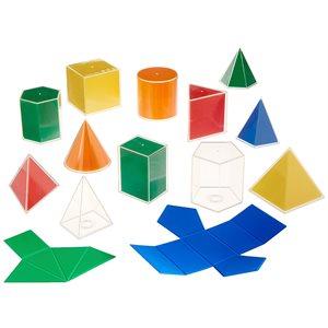 2D3D Geometric Solids, 8cm, Classroom Set