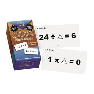 Unknown Quantities Flash Cards-Multiplication & Division