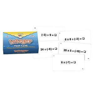 Integer Flash Cards