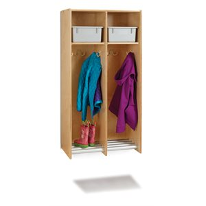 2 Section Hanging Locker - with Platinum Tubs