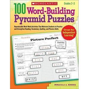 100 Word-Building Pyramid Puzzles, Grades 2-3