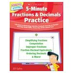 5-Minute Fractions and Decimals Practice:-Gr 4-8- 180 Quick and Motivating Activities