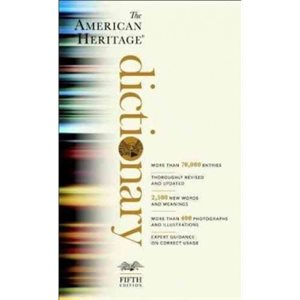 The American Heritage Dictionary Fifth Edition