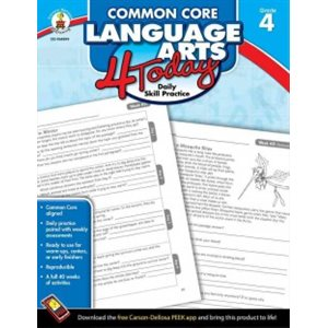 Common Core Language Arts 4 Today, Grade 4 Daily Skill Practice