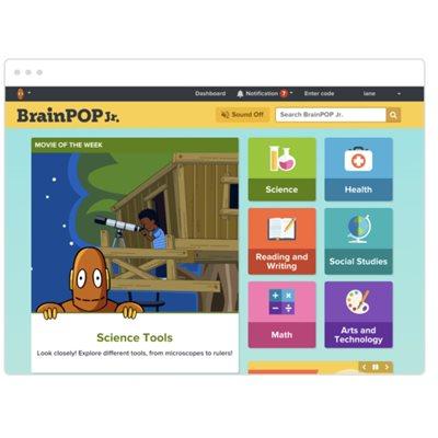 BrainPOP Jr. (Grades K-3) 12 month Teacher Subscription