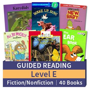 Guided Reading Collection: Level E Fiction and Nonfiction Combo (40 books)