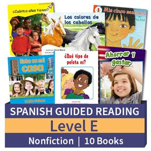 Guided Reading Collection: Spanish Level E Nonfiction (10 Books)