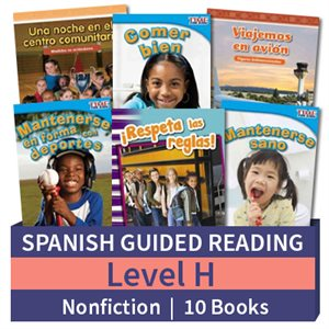 Guided Reading Collection: Spanish Level H Nonfiction (10 Books)