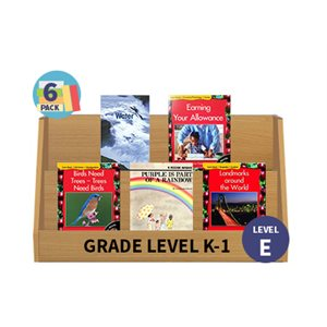 Guided Reading 6-Pack - Level E - Nonfiction (30 Books)(BMI)