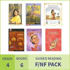 At Home Learning GR Fiction / Nonfiction Pack: Grade 4 (6 Books)