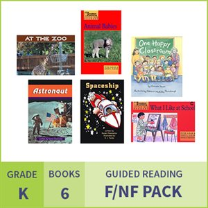 At Home Learning GR Fiction / Nonfiction Pack: Grade K (6 Books)