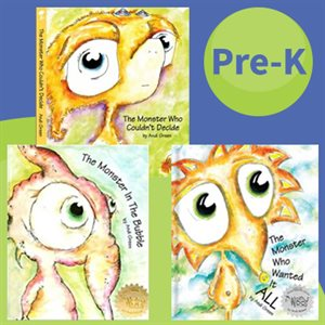 SEL Picture Books: Worry Woo Monsters for SEL Instrution (7 Books)