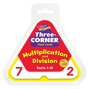 Multiplication & Division Three Corner Flash Cards