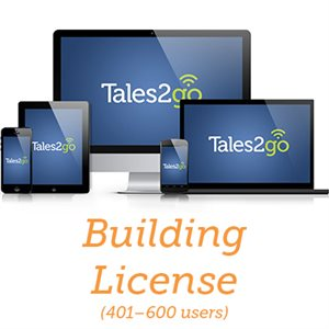 Tales2go-Subscription Audiobooks Building License for K12 schools (401-600 licenses)